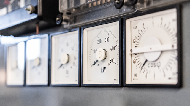 Dials on High Voltage Units