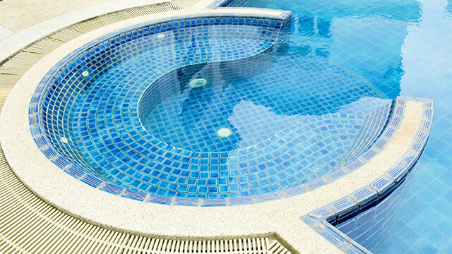 A Rounded Swimming Pool